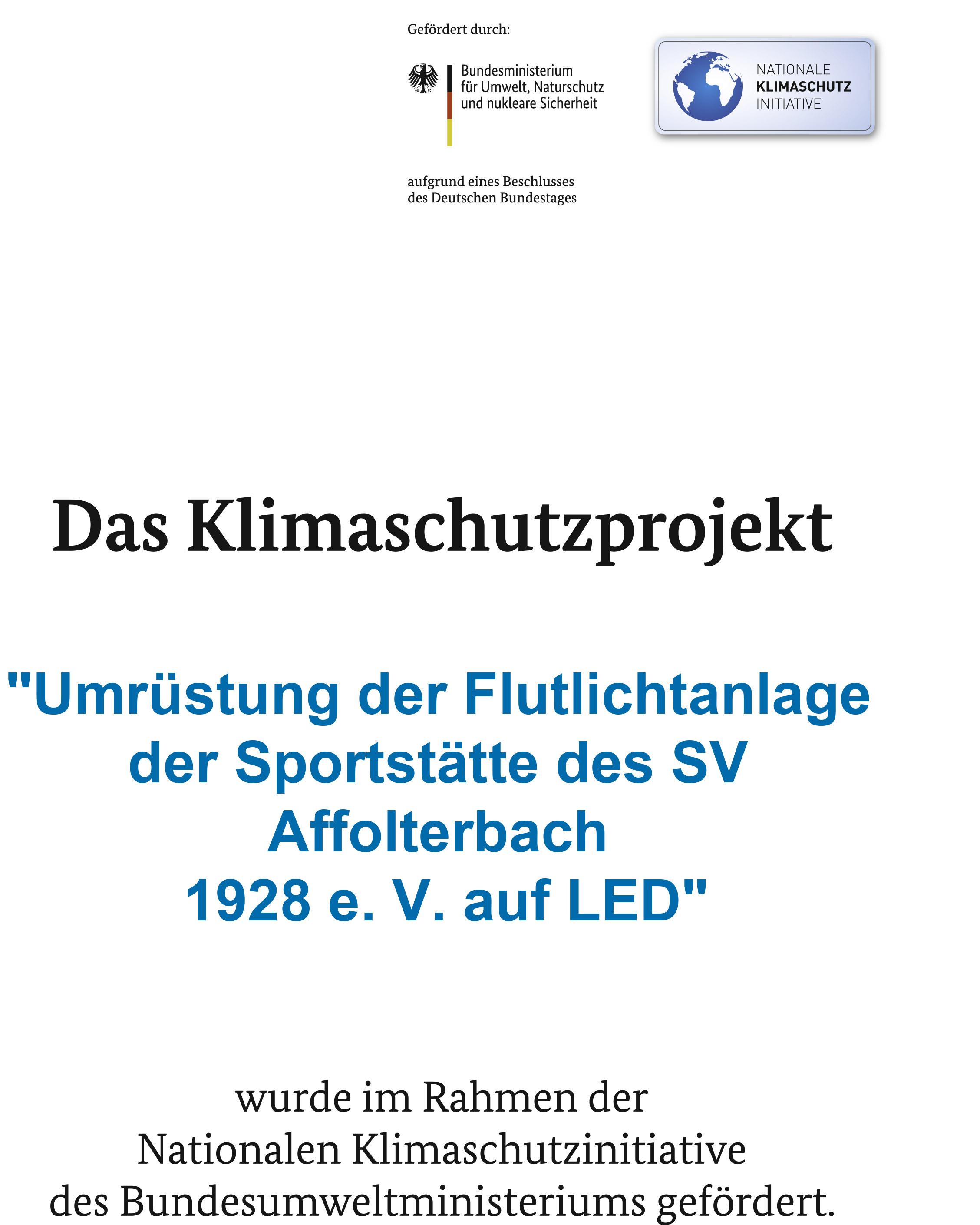 LED-Flutlichtanlage Förderung